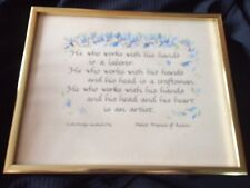 St Francis of Assisi Framed Hand Caligraphy by Evelyn Marshall