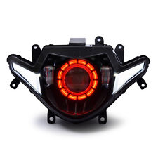 KT Complete LED DRL Projector Headlight Assembly for Suzuki GSX 250R 2017+ Red