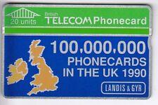 EUROPE TELECARTE / PHONECARD .. U.K 20U L&G 009C BT PRIVEE LANDIS  MINT/NEUVE