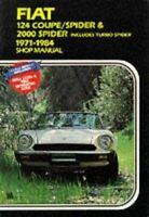 Shop Manual Fiat Spider 124 2000 Service Repair Book Workshop Restoration 71-84