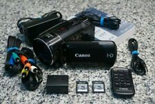 Canon VIXIA HF S200 HD 1080p Camcorder Black 10x W/ Extras 32GB SD Tested FR/SHP