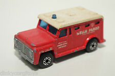MATCHBOX LESNEY SUPERFAST 69 ARMORED TRUCK WELLS FARGO RED GOOD CONDITION