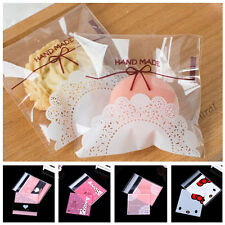 100pcs Wholesale Lace Bakery Bowknot Handmade Cookie Jewelry Bags OPP Gift Bag