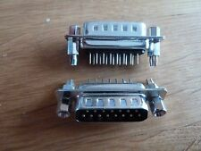 Pack of 2 15 Way Vertical PCB D Connector Socket