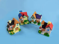 Miniature Houses Set (4pcs) Mowbray Miniatures - For Fairy Gardens, Terrarium
