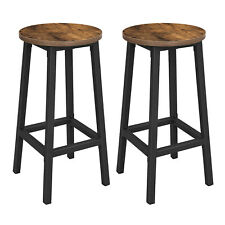 Vintage Set of 2 Bar Stools Tall Kitchen Stools Breakfast High Chair Home LBC32X