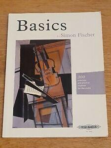 Basics by Simon Fischer - Violin Technique Study Book