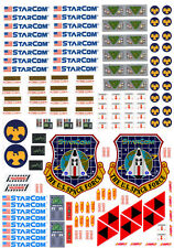 Starcom Starmax Bomber DECAL SET KIT for vehicules coleco vintage mattel