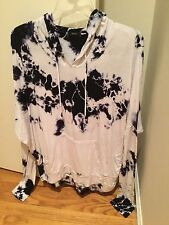 Enti tie dye hoodie pull over size L blue white