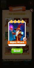 Coin Master Mighty Wizard Card *Fast Delivery*