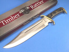"""TIMBER RATTLER TR65 Western Outlaw Bowie full tang knife 16 1/2"""" overall NEW!"""