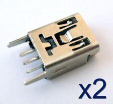 2x Connecteur à souder mini USB type B femelle / 2x Female connector to solder