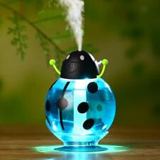 USB Ladybug Design Mini Humidifier Home Office Car Aroma Air Diffuser Blue