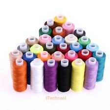 30 Rolls Mixed Colors 100% Polyester Sewing Quilting Threads Set All Purpose