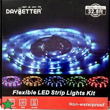 Daybetter Led Strip Lights 32.8Ft 10M With 24 Keys Ir Remote And 12V Power Suppl