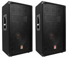 "(2) Rockville RSG12.4 12"" 3-Way 1000 Watt 4-Ohm Passive DJ/Pro Audio PA Speakers"