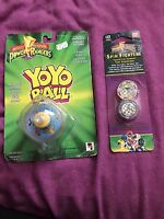 Mighty Morphin Power Rangers Vintage Tots - Yoyo Toy & Spin Fighters King Sphinx