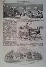 1854 PRINT FARMING EQUIPMENT AT SMITHFIELD CLUB CATTLE- REIGATE NATIONAL SCHOOLS