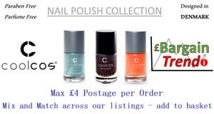 Cool Cos Denmark Paraben Parfum Free Cosmetic NAIL POLISH Colours #BargainTrend