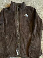 North Face Brown Soft Fleece Zip Up Jacket Womens S/P Small