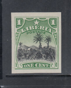 Liberia # 115 Mint IMPERF PROOF Coffee Perkins Bacon