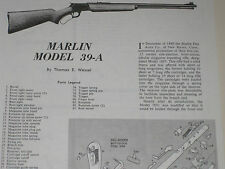 MARLIN MODEL 39A RIFLE EXPLODED VIEW
