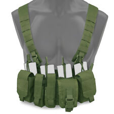 Bulldog Kinetic Military Tactical MOLLE Chest Rig Harness Vest Carrier OD Green
