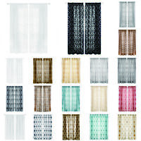 Bubble Print Blackout Room Darkening Curtains Window Panel Drapes Door Curtain
