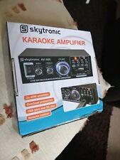 Skytronic AV-360 Hi-Fi Stereo Amp USB MP3 FM Compact karaoke Amplifier