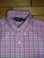 POLO BY RALPH LAUREN SHIRT CHECK TARTAN M CUSTOM FIT COTTON NEW