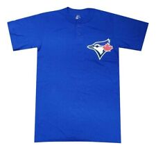 Majestic Toronto Blue Jays MLB Short Sleeve Mens Graphic Button Henley Tee NEW