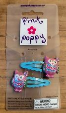 Pink Poppy Kids - Owl Hair Clips - Pink, Purple HairClips Free Shipping, New