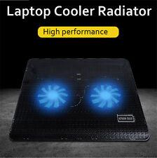 Notebook 2 Fan Radiator Cooling Exhaust Computer Stand Cooler Base Pad Mat   !