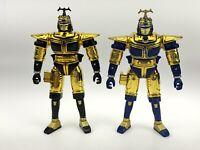 "VTG 1997 Beetleborgs Chromium Gold Beetleborg  6"" Figure Bandai Lot Of 2 Loose"