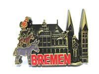 Bremen Metall Magnet Germany Souvenir Stadtmusikanten Roland (br)