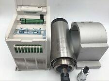 2.2KW ER16 Spindle Motor Air Cooled & 3.7KW 220V VFD Inverter&Mount Bracket Kit