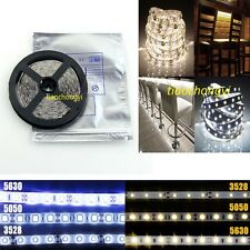 5M SMD 5050 3528 5630 60LED/M 300LEDs Cool/Warm White Waterproof LED Strip Light
