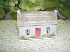 Abbey Press Old World Cottage W/ Thatched Roof Figure Shelf Or Wall Decor 1991