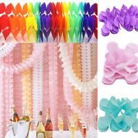 3.6m Paper Garland Bunting Banner Birthday Wedding Party for Hanging Decoration
