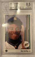 1989 Upper Deck # 1 Ken Griffey Jr. Rookie Beckett 8.5 NM-MT+