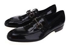 Mens SALVATORE FERRAGAMO 165699 Black Patent Leather Loafers size 11.5 B