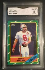 1986 topps #374 STEVE YOUNG san francisco 49ers rookie card NM-MT 8