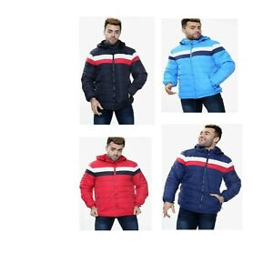 New Men's Hoodie Bubble Coats Padded  Jacket Warm Quilted Winter Zip Up Outwear