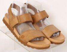 Born Mardel Tan Leather Casual Comfort Adjustable Strap Sandals Women's US 9M