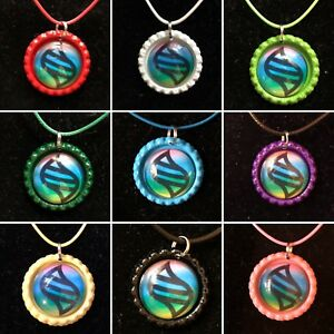 Pokemon Mega Evolution Stone Bottle Cap Pendant Necklace Cosplay