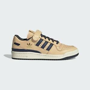 Adidas Forum 84 Low Blue Thread Mens Casual Shoes Tan/Gold/Navy FY7792 NEW!