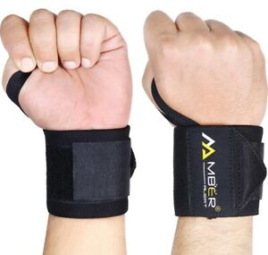 """WEIGHTLIFTING WRIST WRAPS With 18"""" True Length With Thumb Loop"""