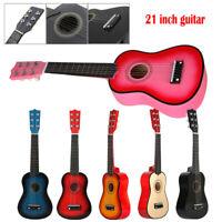 21'' Guitare acoustique pour enfants Mini Guitare Acoustique Ukulélé Soprano