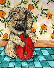 CHOW CHOW PRINT 8x10 poster d0g gift JSCHMETZ modern folk stand up bass
