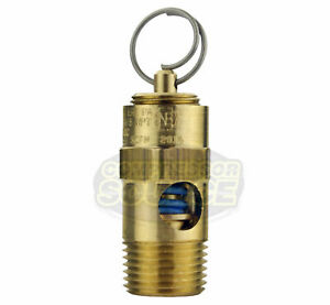 """275 PSI 3/8"""" Male NPT Air Compressor Safety Relief Pop Off Valve Solid Brass New"""
